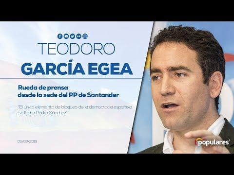 """Teodoro García Egea: """"El único elemento de bloqueo de la democracia se llama Pedro Sánchez"""""""