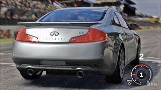 Forza Motorsport 3 - Infiniti G35 Coupe 2003 - Test Drive Gameplay (HD) [1080p60FPS]------------------------------------------Game Information:Forza Motorsport 3 is a racing video game developed for Xbox 360 by Turn 10 Studios. It was released in October 2009. It is the sequel to Forza Motorsport 2 and the third installment in the Forza series. The game includes more than 400 customizable cars (more than 500 cars in the Ultimate Collection version) from 50 manufacturers and more than 100 race track variations with the ability to race up to eight cars on track at a time. These cars vary from production cars to race cars such as those from the American Le Mans Series.__________________________________________