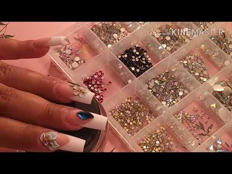 Como hacer diseños a tus uñas acrilicas para que te queden hermosas