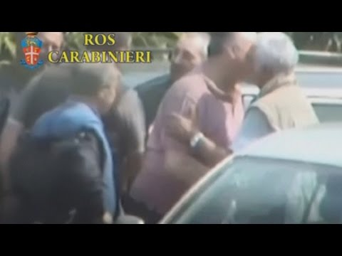 Secret mafia initiation ceremony filmed by hidden camera