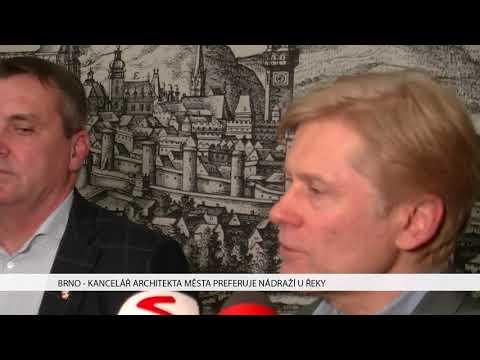 TV Brno 1: 10.1.2017 Kancelář architekta města preferuje nádraží u řeky.