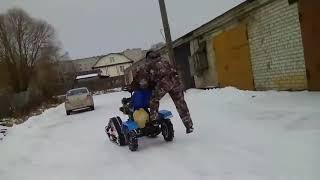 Гусеницы Крутец - езда по снегу