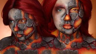 """Starting out my Four Elements series, I channel Fire with the use of bright body paints and textures to create lava rock and magma type cosplay makeup! This tutorial is generally pretty easy to follow and can be done with minimal products! Grab a few paints, brushes, and eyeshadows to achieve this look. ;DHope you guys enjoyed it, and please subscribe if you haven't already! Share along if you like it, it helps so much! FOLLOW ME:Instagram: @jordanhanzhttp://www.instagram.com/jordanhanzTwitter: @jordanhanzhttp://www.twitter.com/jordanhanzSnapchat: jordan_hanzFacebook: Jordan Hanzhttps://www.facebook.com/pages/Jordan-Hanz/295184987353909?fref=tsTwitch TV: Jordanhanzhttp://www.twitch.tv/jordanhanzPeriscope: @jordanhanz (for LIVE streaming)________________________________________//PRODUCTS USED:NYX Milk Jumbo Eye PencilMehron Paradise Paints in colors Orange, Red, Yellow, White, Black, and BrownHOLY TRINITY EYESHADOWS BABY!Makeup Geek Cherry Cola Eyeshadow: $6https://www.makeupgeek.com/makeup-geek-eyeshadow-pan-cherry-cola.html?acc=7f100b7b36092fb9b06dfb4fac360931Makeup Geek Corrupt Eyeshadow: $6https://www.makeupgeek.com/makeup-geek-eyeshadow-pan-corrupt.html?acc=7f100b7b36092fb9b06dfb4fac360931Makeup Geek Mocha Eyeshadow: $6https://www.makeupgeek.com/makeup-geek-eyeshadow-pan-mocha.html?acc=7f100b7b36092fb9b06dfb4fac360931CODES/LINKS:// MAKEUP GEEK COSMETICShttps://www.makeupgeek.com/store/eye-products/eyeshadows/makeup-geek-eyeshadows.html?acc=7f100b7b36092fb9b06dfb4fac360931// MORPHE BRUSHESUse code """"JORDANHANZ"""" for 10% off site wide!http://www.morphebrushes.com// SIGMA BEAUTYUSE code """"JORDANHANZ"""" for 10% off site wide!http://sigma-beauty.7eer.net/c/134412/146780/2835?u=http%3A%2F%2Fwww.sigmabeauty.com%2Fe20-short-shader%2Fp%2FE20PARNT// GERARD COSMETICSUse code """"Jordan"""" for 25% off site wide!http://www.gerardcosmetics.com//NUBOUNSOM 3D RUSSIAN (LASHES)Use code """"jordanhanz: for 20% off site wide!http://nubounsom.com// MUSIC  SOUNDS:Dread Pitt - Pyro [NCS Release]ht"""