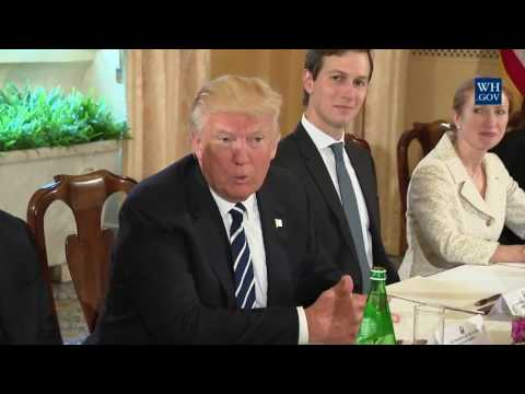 President Trump participates in a bilateral meeting with Italian Prime Minister