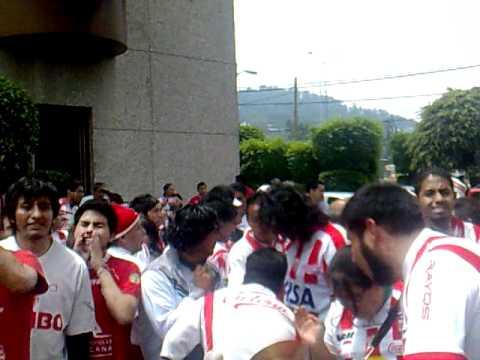 Comando Rojiblanco antes de Amierdica Vs NECAXA 2010 - Comando Rojiblanco - Club Necaxa