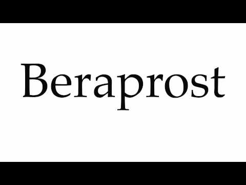 How to Pronounce Beraprost