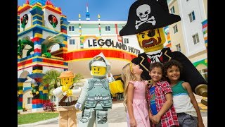 Subscribe to the channel http://www.youtube.com/channel/UCEkW8bQp2N-eHs5q8rsSxvg?sub_Confirmation=1&sub_confirmation=1LEGOLAND® Florida Resort Hotel - book now https://www.booking.com/hotel/us/legoland-florida-resort.html?aid=9110251 Legoland Way, Winter Haven, FL 33884, United States of AmericaDescription: The LEGOLAND® Florida Resort Hotel is a 5-level LEGO®-themed hotel adjacent to the LEGOLAND® theme park. A buffet breakfast, interactive play areas, and early theme park access for ticket-holding guests are featured at the resort.A free children's Master Model Builder Session is included with every stay. Strolls can be enjoyed on the Lake Eloise Boardwalk, which has LEGO® surprises hidden in the trees. A seasonal LEGOLAND® Water Park, which features a LEGO® wave pool, Build-A-Raft lazy river and tube slides, can be accessed at surcharge.The brightly-themed rooms feature a treasure hunt, at least 8 LEGO® models, and a separate children's sleeping area. Some rooms are pirate, kingdom, and adventure-themed at the Winter Haven LEGOLAND® Resort.The zero-entry heated outdoor pool includes soft LEGO® brick toys guests can build with while swimming. The hotel also has a castle play area with a pirate ship and LEGO®-filled moat as well as the Skyline Lounge with a LEGO® skyline and over 20 LEGO® humorous scenes.Historic Bok Tower Gardens are 18 km from the hotel, while Eagle Ridge Mall is 12 minutes' drive by car. Davidson of Dundee candy factory, which creates fresh citrus candies and pecan roll slices, is 11 km away. LEGOLAND® Florida Resort Hotel, Winter Haven, Florida, USA100% Verified Reviews:Pluses: I didn't like anything about this hotel I loved everything about it from the staff to the rooms to the activities to the huge Lego pool in the lobby my son was turning 8 and we went all the way from new York to take him there he was in wow mode the whole time he wasn't even that excited about Disney world I mean the elevators soon as the doors closed it was a dance party