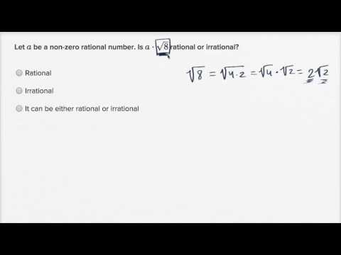 Recognizing Rational Irrational Expressions Unknowns