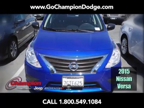 USED 2015 Nissan Versa SV for Sale - Los Angeles, Cerritos, Downey, Long Beach CA - PREOWNED DEAL