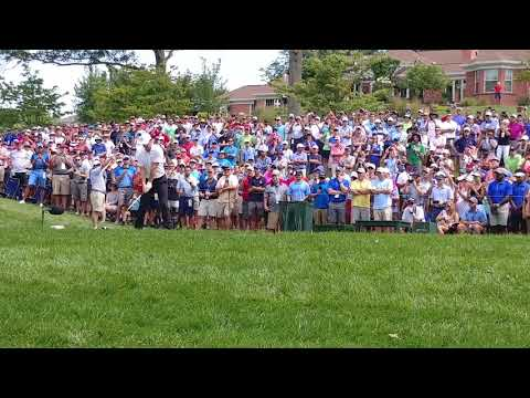 Rory McIlroy Tees off on 4 at 100th PGA Championship