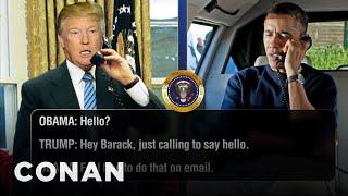 Video Trump Calls Obama To Discuss The Oscars & More  - CONAN on TBS MP3, 3GP, MP4, WEBM, AVI, FLV Juli 2018
