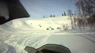 6. 2007 Polaris RMK 600 HO 144 sidehilling