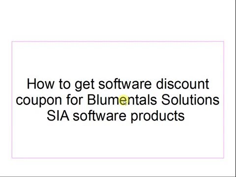 How to get software discount coupon for Blumentals Solutions SIA