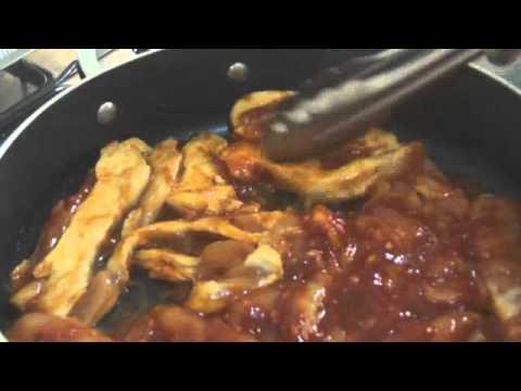 Pechugas de pollo en salsa BBQ