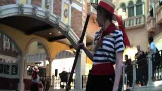 The Venetian Macao Gondola Ride With Daniella, Our Gondoliere (in MP4)