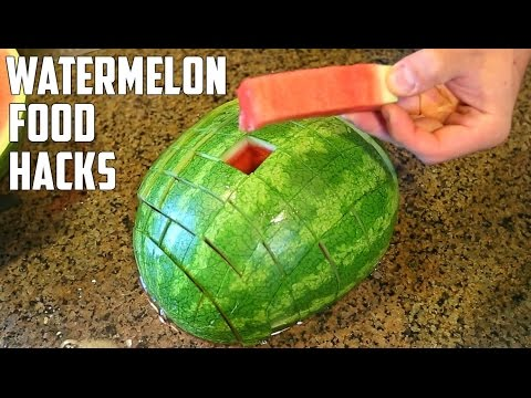 5 AWESOME Watermelon Food Life Hacks You Should Try! (видео)