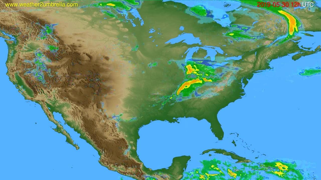 Radar forecast USA & Canada // modelrun: 00h UTC 2019-05-30