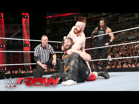 Roman Reigns & Bray Wyatt vs. Sheamus & Alberto Del Rio: Raw, April 11, 2016