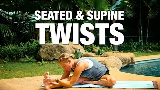 Video Seated & Supine Twists Yoga Class - Five Parks Yoga MP3, 3GP, MP4, WEBM, AVI, FLV Maret 2018