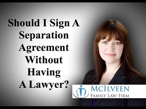 Should I Sign a Separation Agreement Without Having an NC Divorce Lawyer Look At It?
