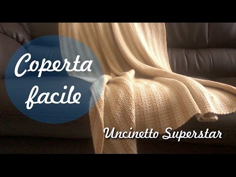una splendida coperta all'uncinetto