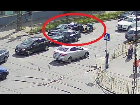 Авария с мотоциклистом в Петрозаводске