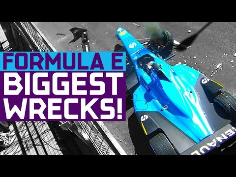 Biggest Crashes In Formula E History! | ABB FIA Formula E Championship