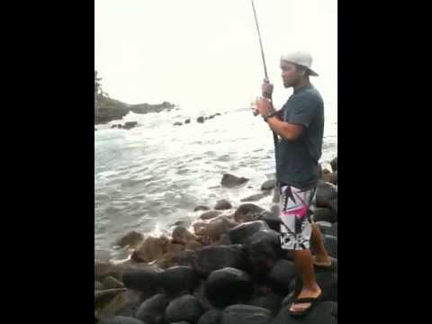 5 lb Omilu (Papio/Jack Crevalle) – Kauai, July 2012