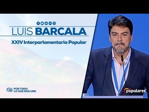 Luis Barcala, alcalde de Alicante, en la XXIV Interparlamentaria Popular