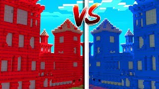 Minecraft - 4-Player Red VS Blue Castle Defense (Wings  & Tech Guns Mod) | JeromeASF