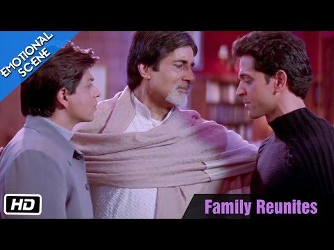 Family Reunites - Emotional Scene - Kabhi Khushi Kabhie Gham - Amitabh Bachchan, ShahRukh Khan