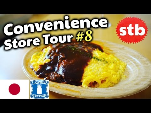 Convenience Store Tour  Japanese Food At A Konbini Omurice