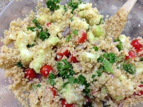Quinoa Tabouli Salad – HASfit Healthy Quinoa Recipes – Quinoa Tabouli Recipe – Quinoa Recipe