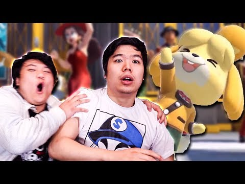 NINTENDO DIRECT REACTION! Isabelle in Smash Bros Ultimate, Animal Crossing and Luigis Mansion 3! (видео)