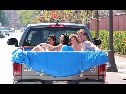 EJ: Man Turns His Pick Up Truck Into A Hot Tub.