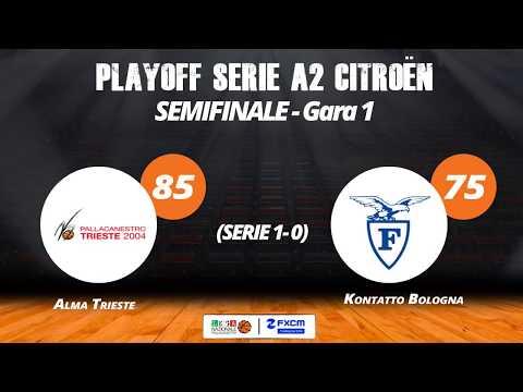 A2 Playoff – Semifinali Gara1, gli highlights di Trieste-Fortitudo