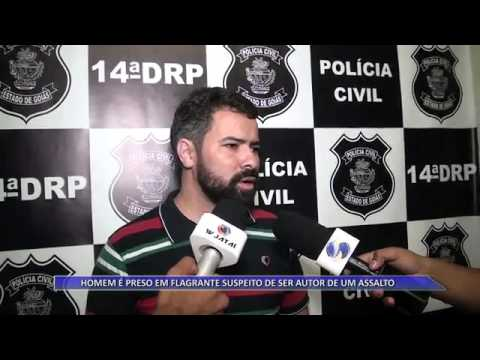 JATAÍ | Homem é preso em flagrante, suspeito de ser autor de assalto