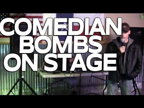 Comedian Bombs at Open Mic Night
