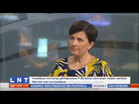 Veselības ministres saruna LNT par Saeimas aicinājumu izvērtēt Stradiņa slimnīcas valdes darbību u.c. aktualitātēm veselības nozarē