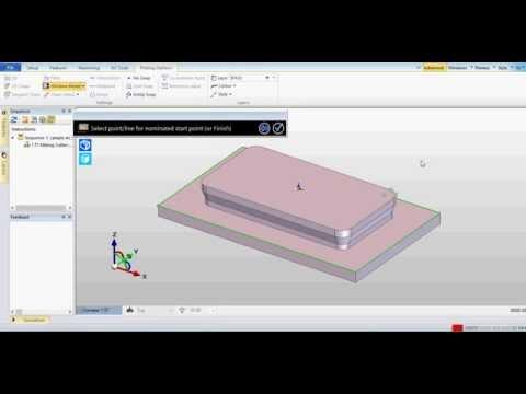 Edgecam 2015 Profil Mill Undercut (видео)