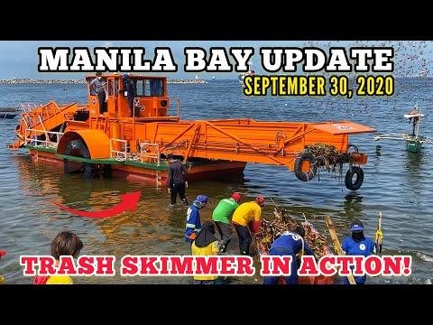 SEPT 30: TRASH SKIMMER IN ACTION, MGA BASURA WALANG KAWALA | MANILA BAY UPDATE