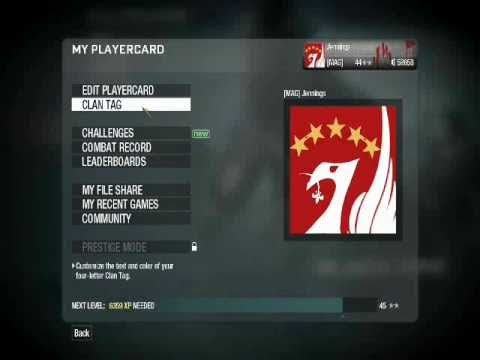 COD Black Ops - Playercard - Liverpool FC Badge Tutorial