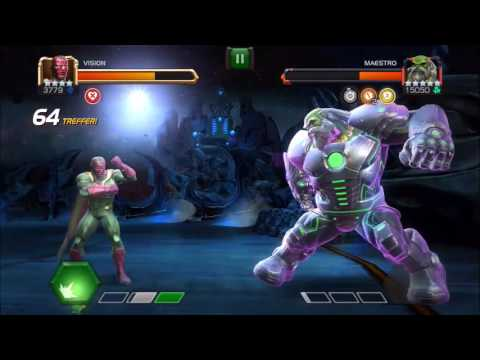 Marvel: Contest Of Champions. (new) Vision Vs. Maestro With Perfect Block!