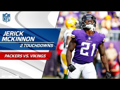 Video: Jerick McKinnon Racks Up 2 TDs in the 1st Half! | Packers vs. Vikings | NFL Wk 6 Highlights