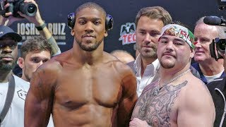 Anthony Joshua vs Andy Ruiz FULL WEIGH IN & FINAL FACE OFF | Matchroom Boxing USA