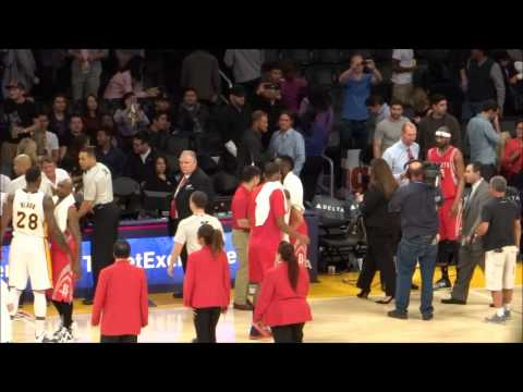 Harden greets former Rockets Lin, Black after Lakers game