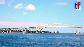 Port Huron (MI) United States  city pictures gallery : Blue Water Bridge Port Huron, Michigan, USA / Canada, 2016.