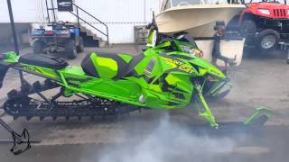 9. 2017 Arctic Cat Mountain Cat M8000 First Start Ever