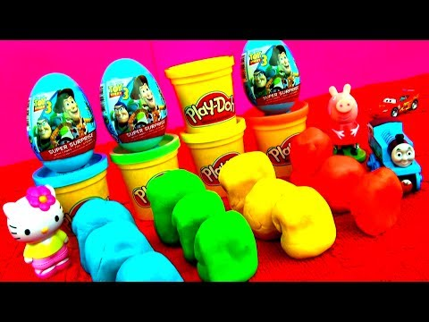 surprise - Toys! Today we're unboxing Toy Story surprise eggs & Play-Doh surprise eggs: Shrek surprise egg, Spongebob surprise egg, Disney Princess surprise egg, Disney...