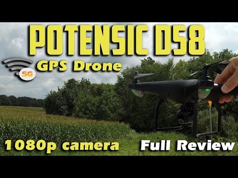 Potensic D58 1080p 5G WIFI GPS Drone Review